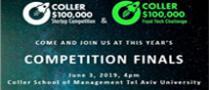 נבחרו 10 הצוותים הפיינליסטים שיתמודדו בגמר תחרות  Coller $100,000 Startup Competition