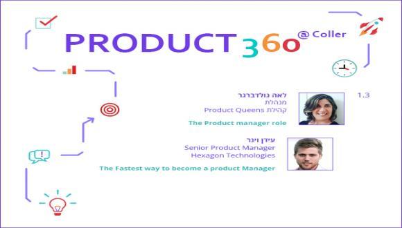 אירוע ראשון בסדרת Product 360 @ Coller - סקירת תפקיד מנהל המוצר