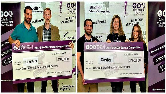 לא זוכה אחד אלא שניים בתחרות קולר לסטארט אפים של הפקולטה לניהול